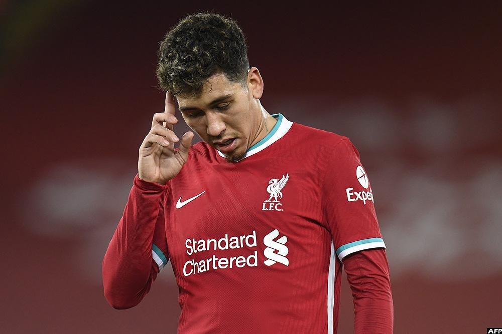 Liverpool's Brazilian midfielder Roberto Firmino