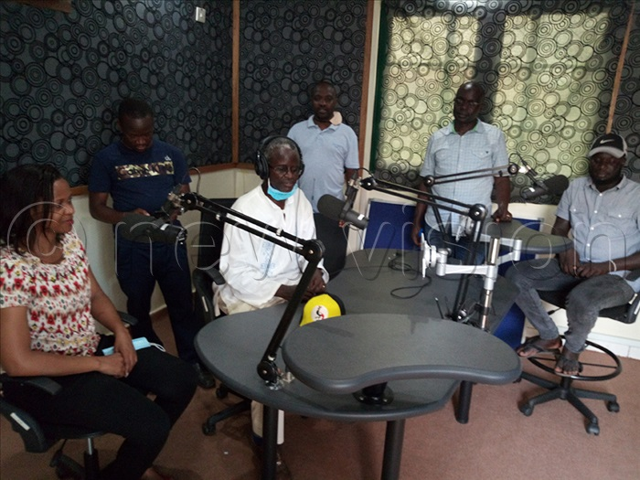 The Makerere University NORHED project team in the University of Juba radio studios in October 2021. The team was retooling Juba staff in multimedia production.