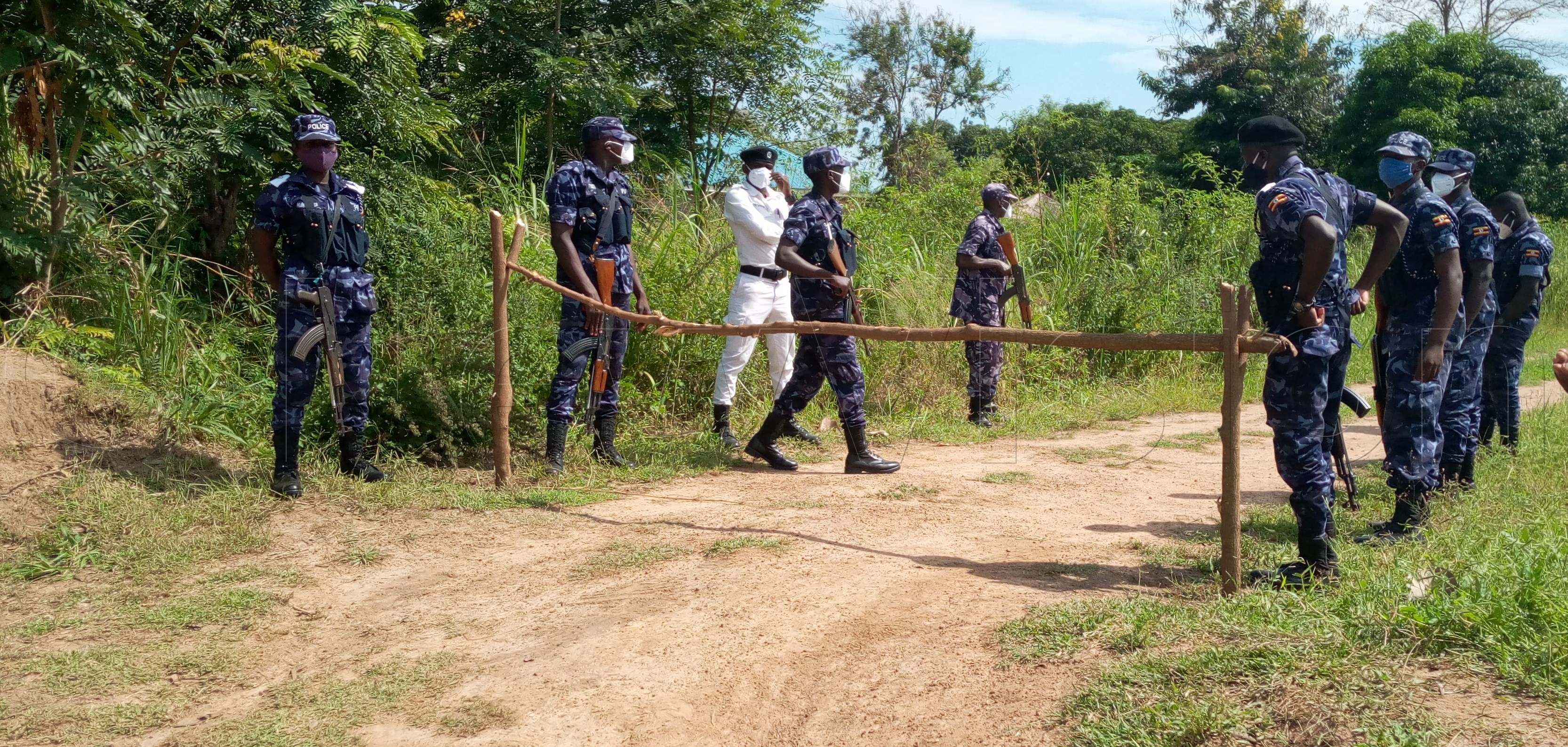 Police on duty in Obongi district. Photo by Edna Piyic