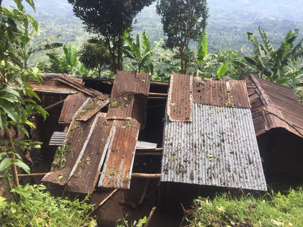 The destroyed house where the dead boy used to live. URCS photo