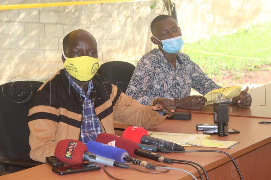 Dr Tanga Odoi announcing Rushenyi Country final results on Wednesday in Kampala. Photo by Jaliat Namuwaya