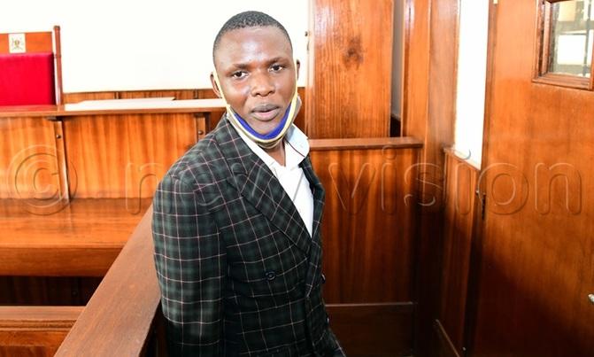 Pastor Sirajje Ssemanda at in the dock at Buganda Road court where he was charged
