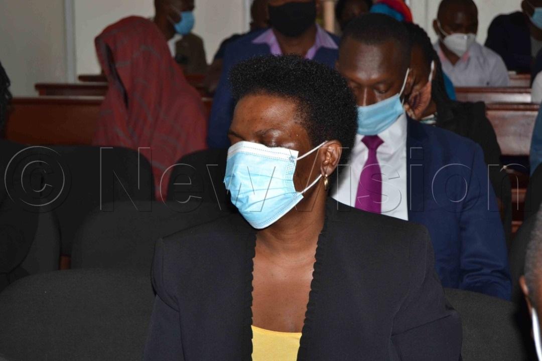 Muweebwa at the Anti-Corruption Court in Kololo on Thursday. Photo by Margret Zalwango