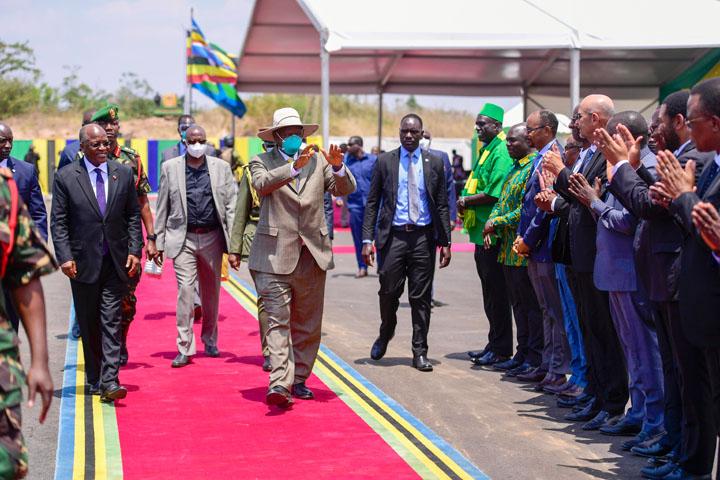 Magufuli And Museveni Meet In Chato, Tanzania