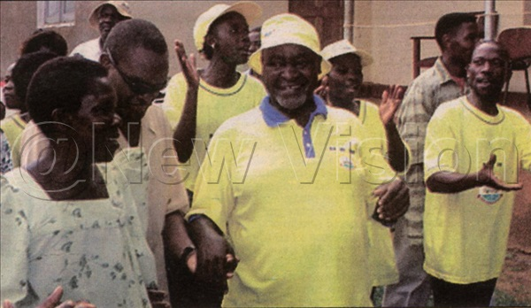 Bukenya chats with supporters