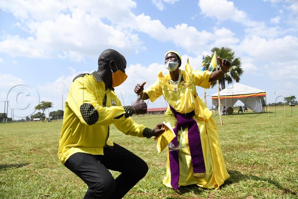 NRM supporters dancing paka chini. Photos by Mpalanyi Ssenyongo