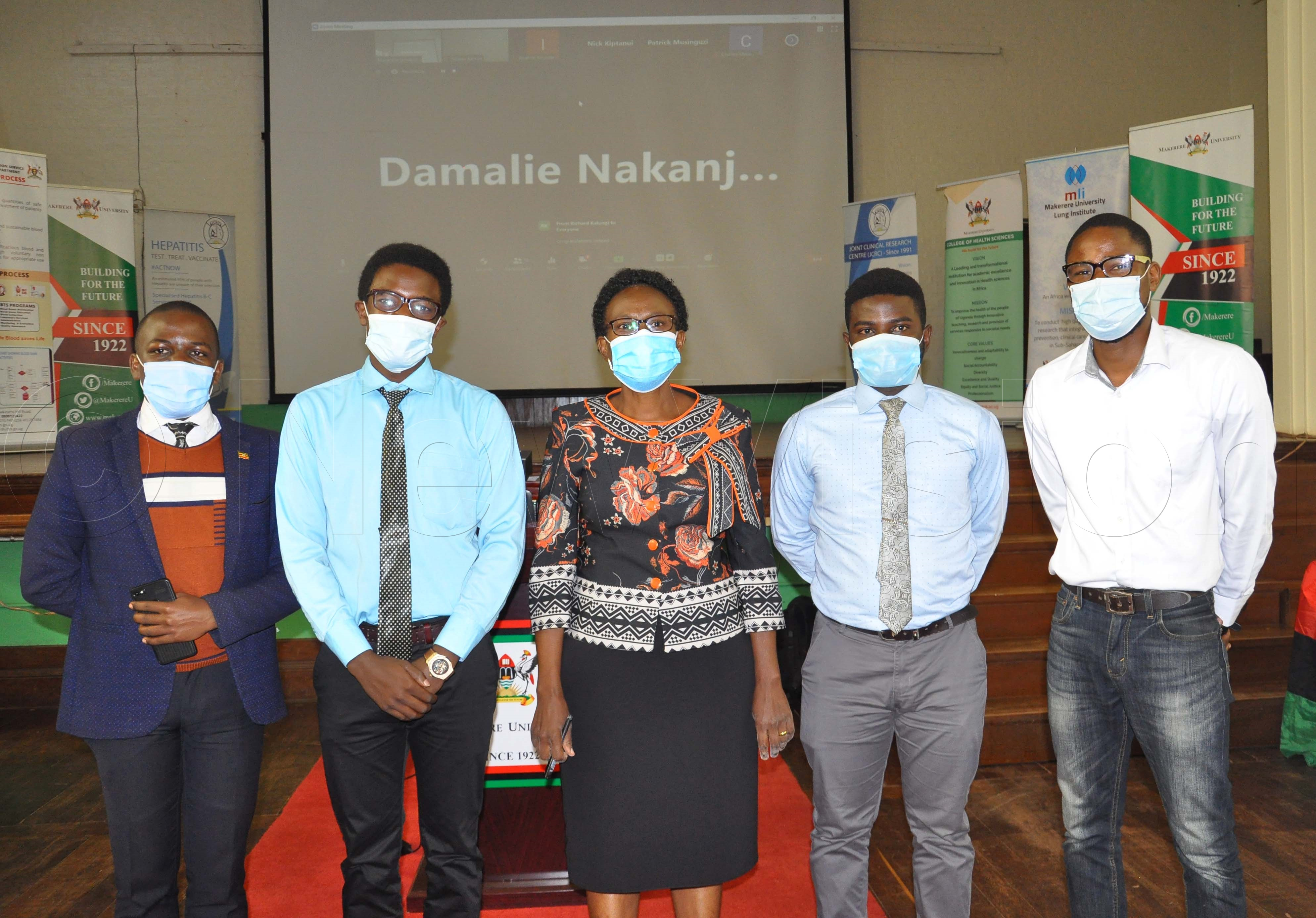 Aceng with some team members who have been working on the project. Photos by nancy Nanyonga