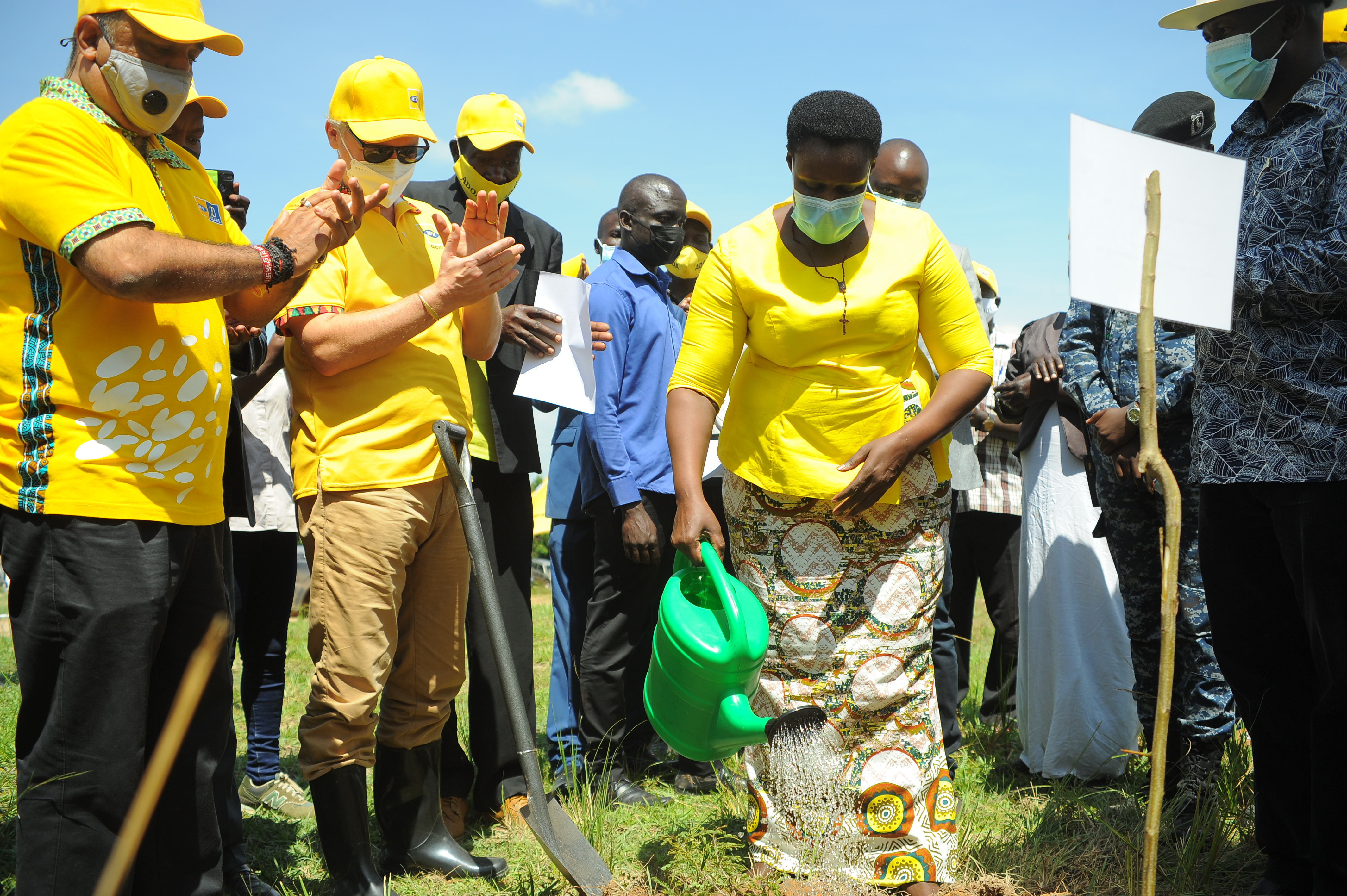 The Vice President, Hon. Jessica Alupo 2 Planting A Tree In Ogera Hills Central Forest Reserve In Serere.