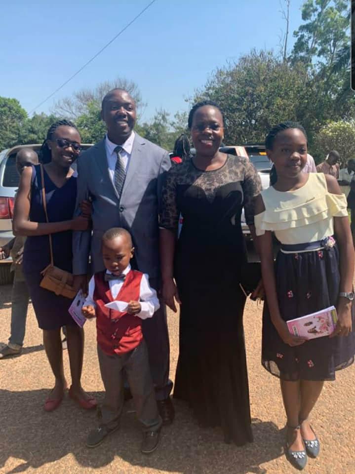 Dr. Mwebesa with his family. Courtesy photos